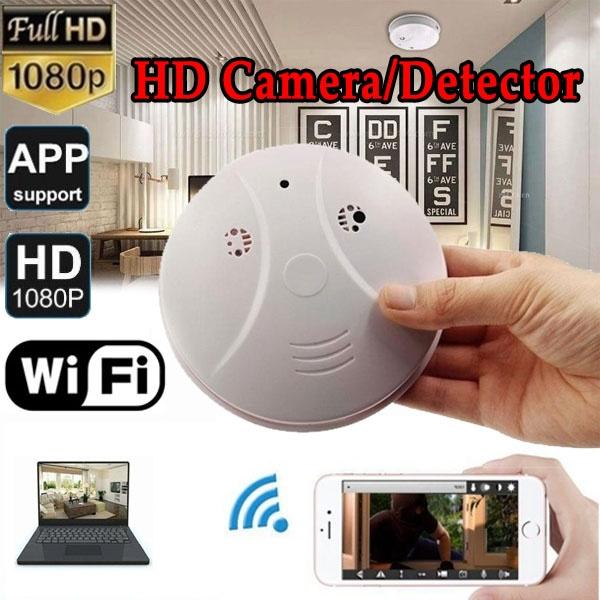 Hd 1080p Wifi Hidden Camera Spy Camera Smoke Detector Mini Video