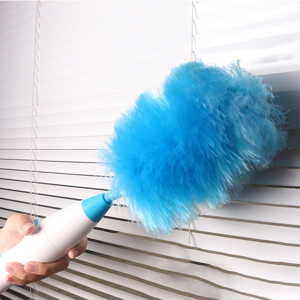 Spin Duster Electric Dust Mites Cleaning Brush Electric Feather ...