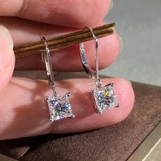 Sterling, DIAMOND, moissanite earrings, Stud Earring
