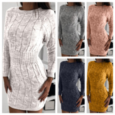 Mini, Fashion, Long Sleeve, Dress