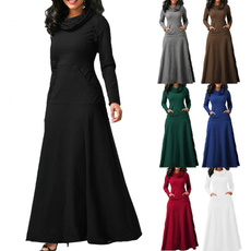 long skirt, high waist skirt, longsleeveddresse, ladiesskirt