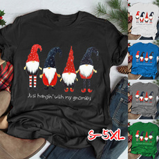 Plus Size, Christmas, Santa Claus, topsamptshirt
