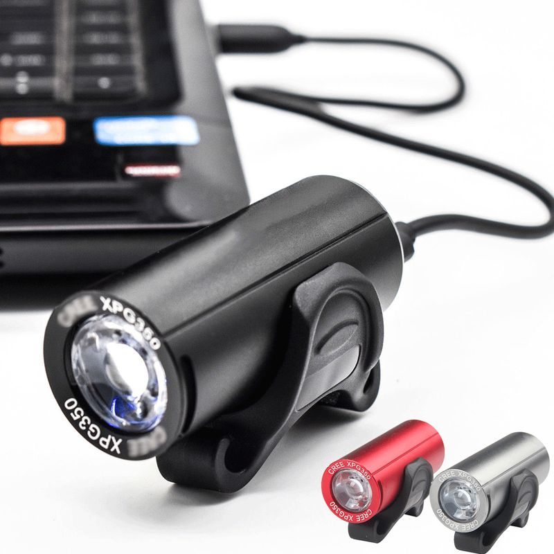 2400LM Cycling Bike Front Light Headlight LED USB Rechargeable 4 Modes Torch