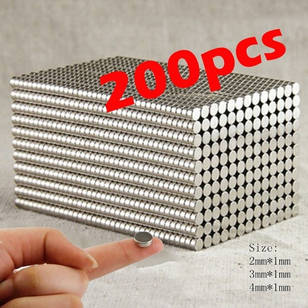 200pcs Super Strong Neodymium Magnets Rare Earth Permanent Magnet N35 Disc Fridge Craft 4 Mm**3 Mm*2 Mm by Wish