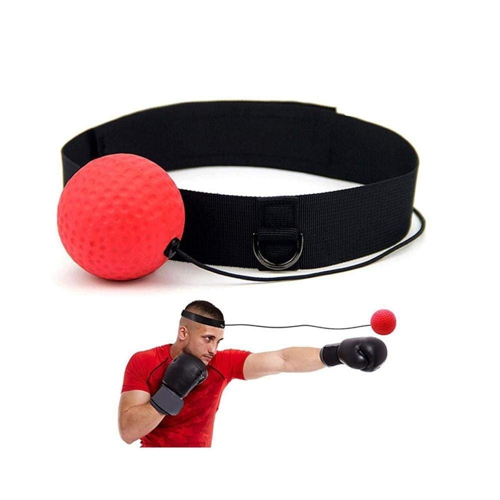 High quality Head-Mounted Boxing Reflex Ball Raising Reaction Force,Softer than Tennis Ball, Perfect for Fitness,Stay healthy