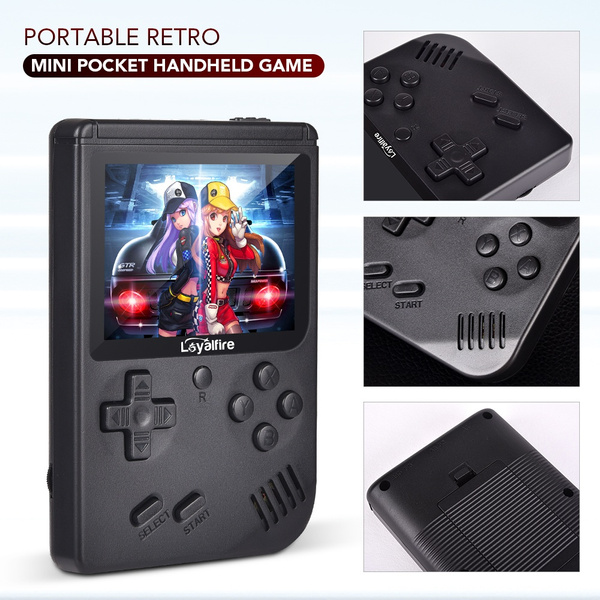 Wish | Portable Retro Mini Pocket Handheld Game console 168 Classic Games Support TV Output Video Game Console Best Gift For Kids