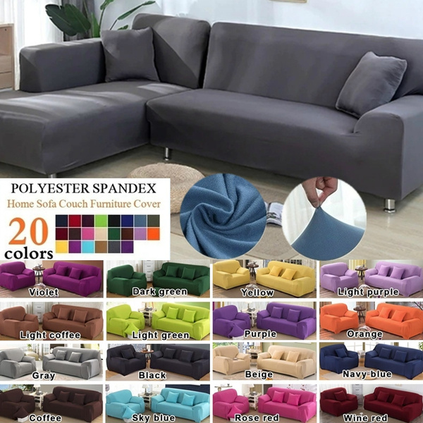Astounding 20 Colors Seaters Fashion Solid Color Recliner Sofa Covers Soft Elastic Couch Slipcovers Sofa Protector Machost Co Dining Chair Design Ideas Machostcouk
