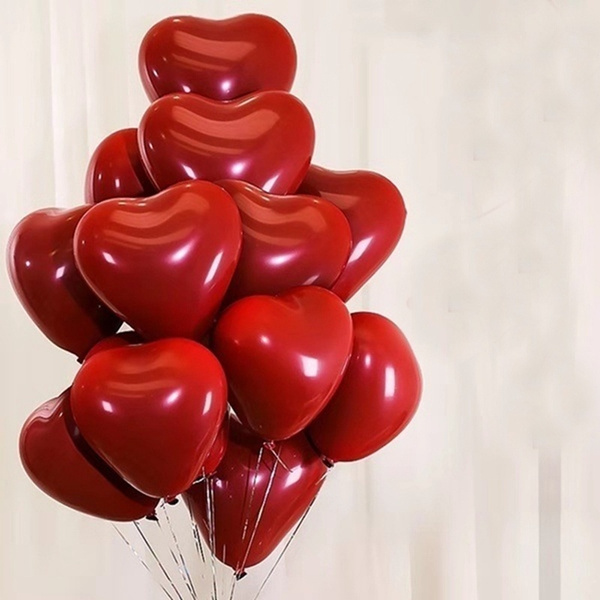 Anniversary Latex Balloons Red /'I Love You/' Valentine/'s Day Wedding