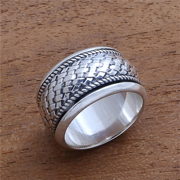 Sterling, Jewelry, anillosdecompromiso, Silver Ring