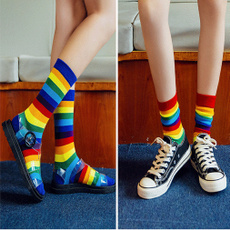 cute, Cotton Socks, Cosplay, rainbow