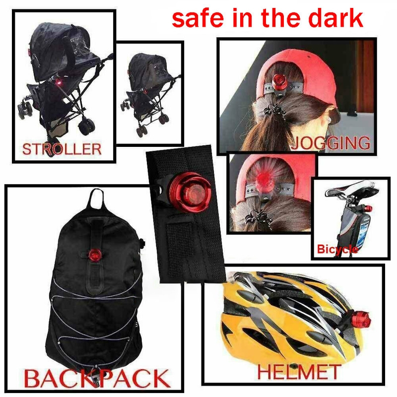 Bicycle Bike Cycling Rear Tail Lights Backpack Helmet Safety Warning Lamp New