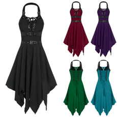 Goth, Plus Size, Lace, Dress