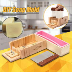 1pc Soap Loaf Cutter Mold DIY Wooden Premium Durable Soap Cutter Mold with Scale