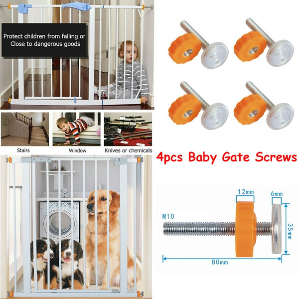 Spindle Rods Screw Pressure Mounted Baby Bolts Kit for Stair Gates Dog Gate SI