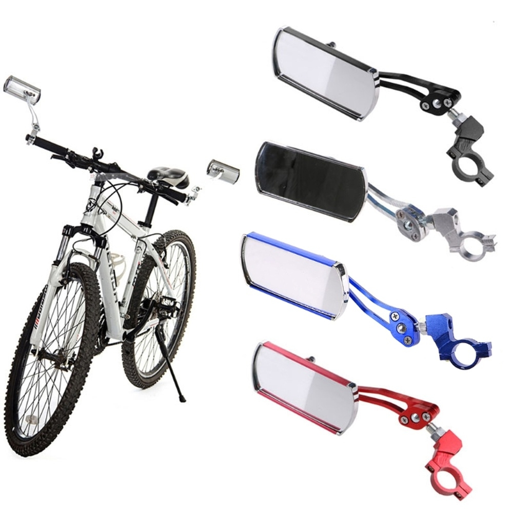 Universal 360 Rotate Adjustable Bicycle  motorcycle  Cycling Handlebar Rear View Rearview Mirror Rectangle Back