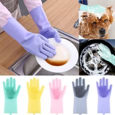 dishwashingglove, dishwashing, siliconeglove, Cleaning Supplies