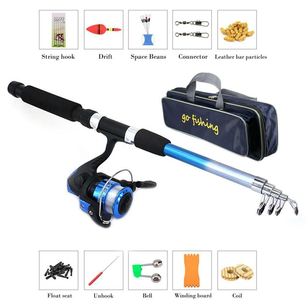 Complete Starter Junior Beginner Kids Fishing Rod & Reel Kit Set,The best fishing tool for you
