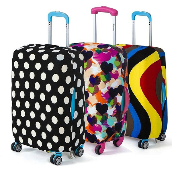 Cool Travel Luggage Protective Covers for 18-32 Suitcase Elastic Welcome Home