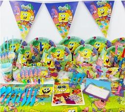 babyshowerdecoration, Sponge Bob, Shower, paperplate