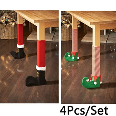 christmastabledecoration, tablelegcover, Christmas, santachaircover
