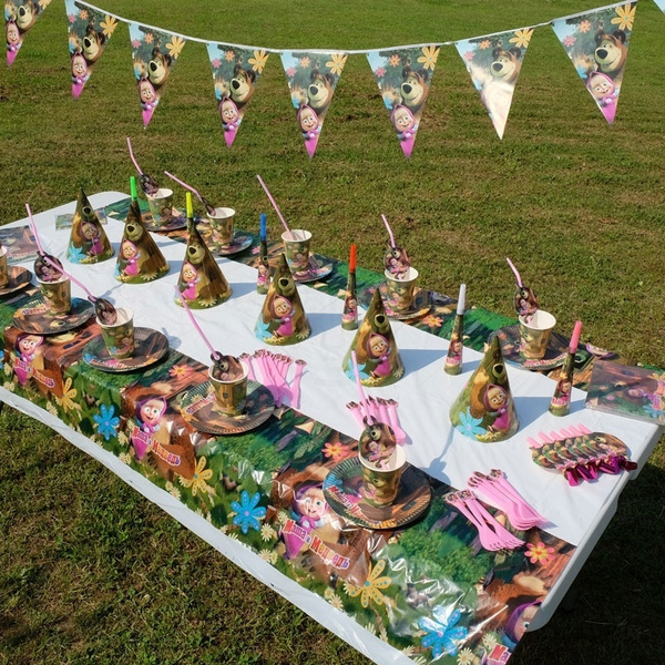party, cupcaketopper, mashaandbeartoy, cakedecor