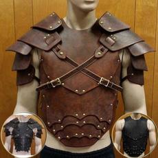 brown, leatherbreastplate, steampunkarmor, Medieval