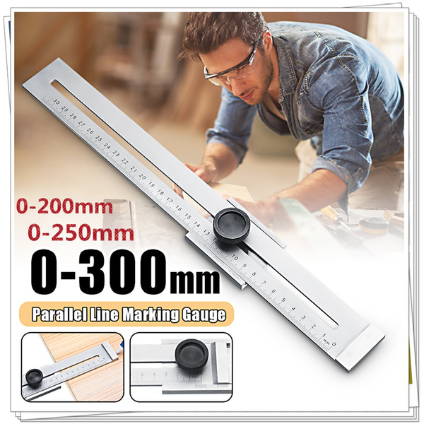 200Mm//250Mm//300Mm Screw Cutting Marking Gauge Mark Scraper Tool For Woodworking Measuring 0-200mm