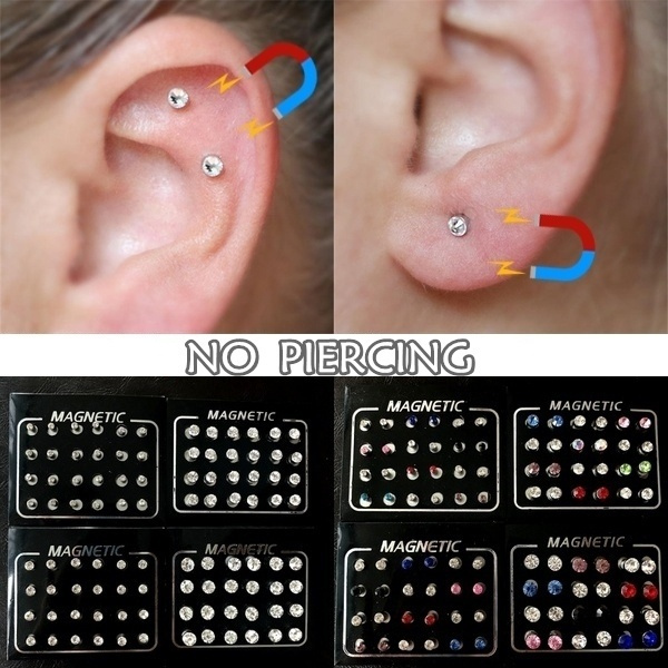 Magnetic Fake Piercing Fake Nose Ring Earrings For Women Nose Stud