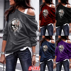Goth, Plus Size, Women Blouse, Long Sleeve