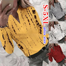 Stand Collar, fall clothes women, Plus Size, Tops & Blouses
