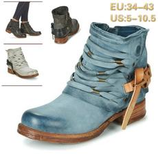 anklebootsforwomen, Winter, Cowboy, leather