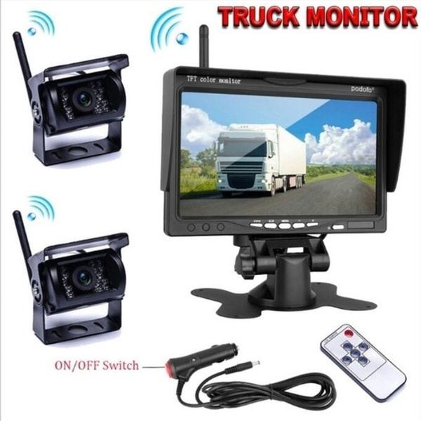 Wireless Backup Camera 7 Inch Hd Tft Lcd Vehicle Rear View Monitor Waterproof Back Up Camera Night Vision Parking System For Truck Rv Trailer