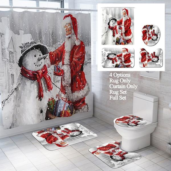 snowman, Bathroom, Home Decor, toiletmat