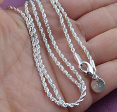 Sterling, clavicle  chain, Chain Necklace, Jewelry