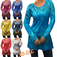 Tops & Tees, Plus Size, Women Blouse, Long Sleeve