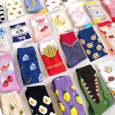 Kawaii, Funny, Cotton Socks, animal print