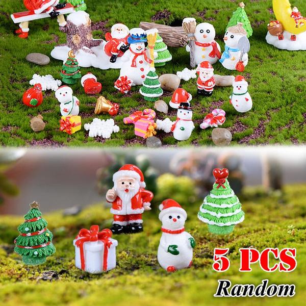 Christmas Santa Claus Snowman Desk Small Statues Figurine Ornaments Miniatures