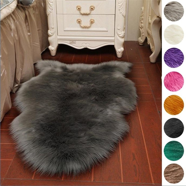 Shiny Sheepskin Fur Wool Carpet Rugs
