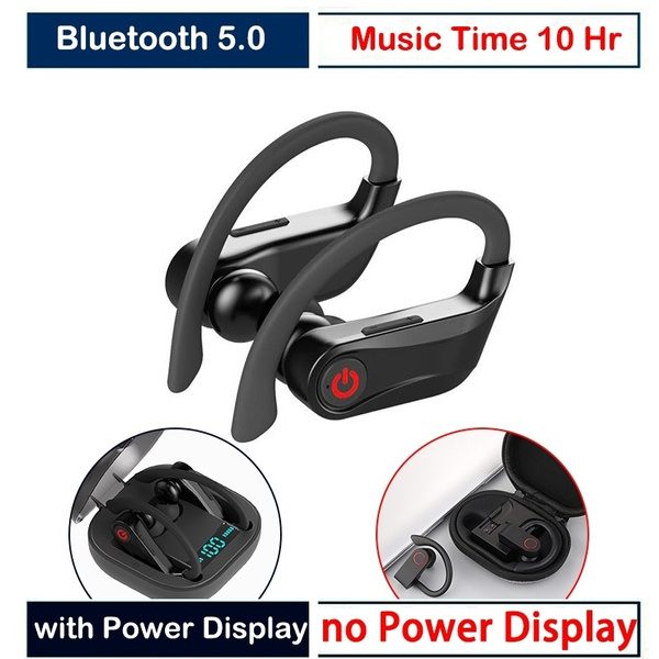 Hd Sound Tws Wireless Earphone Bluetooth 5 0 Stereo Headphones Noise Canceling Headphones With Charging Box Waterproof Ear Hook Headsets With Mic For Ios And Android Phone Wish