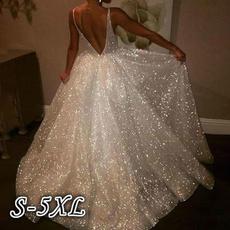 Halter, purewhite, Evening Dress, Dress