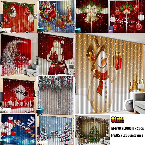 bedroomcurtain, Christmas, Gifts, Santa Claus