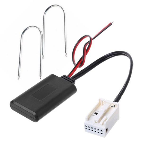 kabellos 12-polig Stereo Aux-In-Kabel f/ür Citroen C2 C3 RD4 Bluetooth-Modul kompatibel mit Peugeot 207 307 407 308