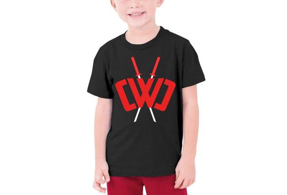 Black, Youth Fashion Chad Wild Clay Custom T-Shirt Boy Girl Colorful Tops