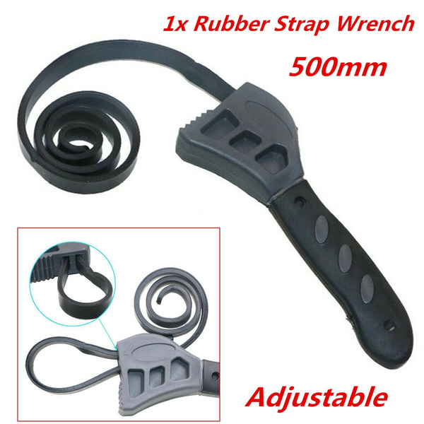 Universal Oil Black Adjustable Rubber Strap Belt Spanner Wrench Hand Tool Kits