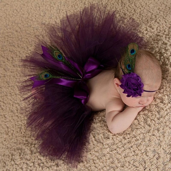 Newborn Baby Girl Tutu Skirt Dress Flower Headband Photo Photography Prop Outfit