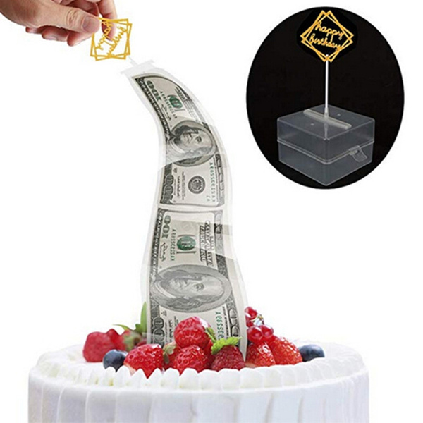 Outstanding Surprise Cakefunny Cake Money Box Money Pulling Cake Making Mold Funny Birthday Cards Online Hendilapandamsfinfo