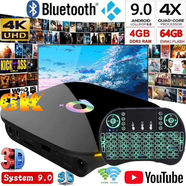 Best Android Keyboard 2020.2020 Uhd Q Box Network Smart Media Player Android 9 0 Tv Box 4g 64g Wifi Free I8 Keyboard Best Quality Tv Smart