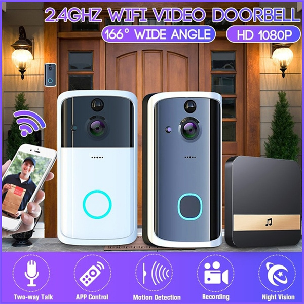 Security Smart Camera Two-Way Bell HD Talk WiFi Wireless Video Door Night Vision