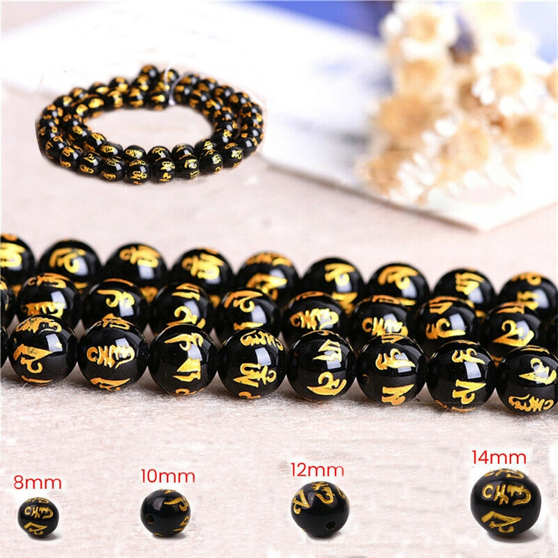 Grosshandel 100pcs Glas Schwarz Carving Perlen Fur Pixiu Armband