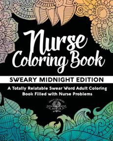 swearwordcoloringbook, coloringbookfornurse, Gifts, humorouscoloringbook